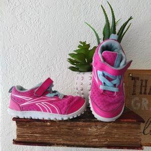 Reebok 💜 Baby Pink Flex Sneakers Stride Shoes